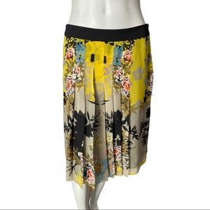 Tristan Floral Pleated A Line Skirt Size 4
